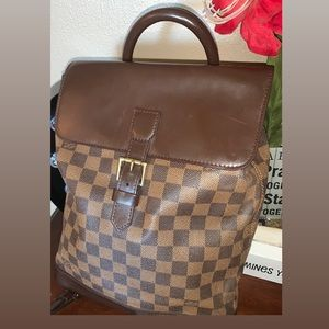 Louis Vuitton SoHo brown backpack bag, purse